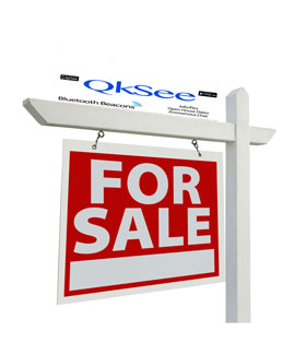 Bluetooth Beacons For Sale for Real Estate signs, car